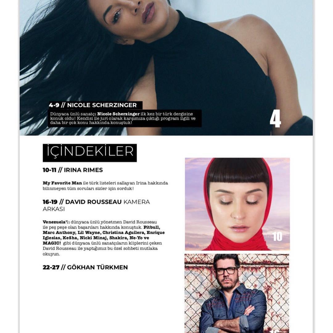 """Interviu Irina Rimes pentru revista turcească """"Pop&Kultur"""". …"""