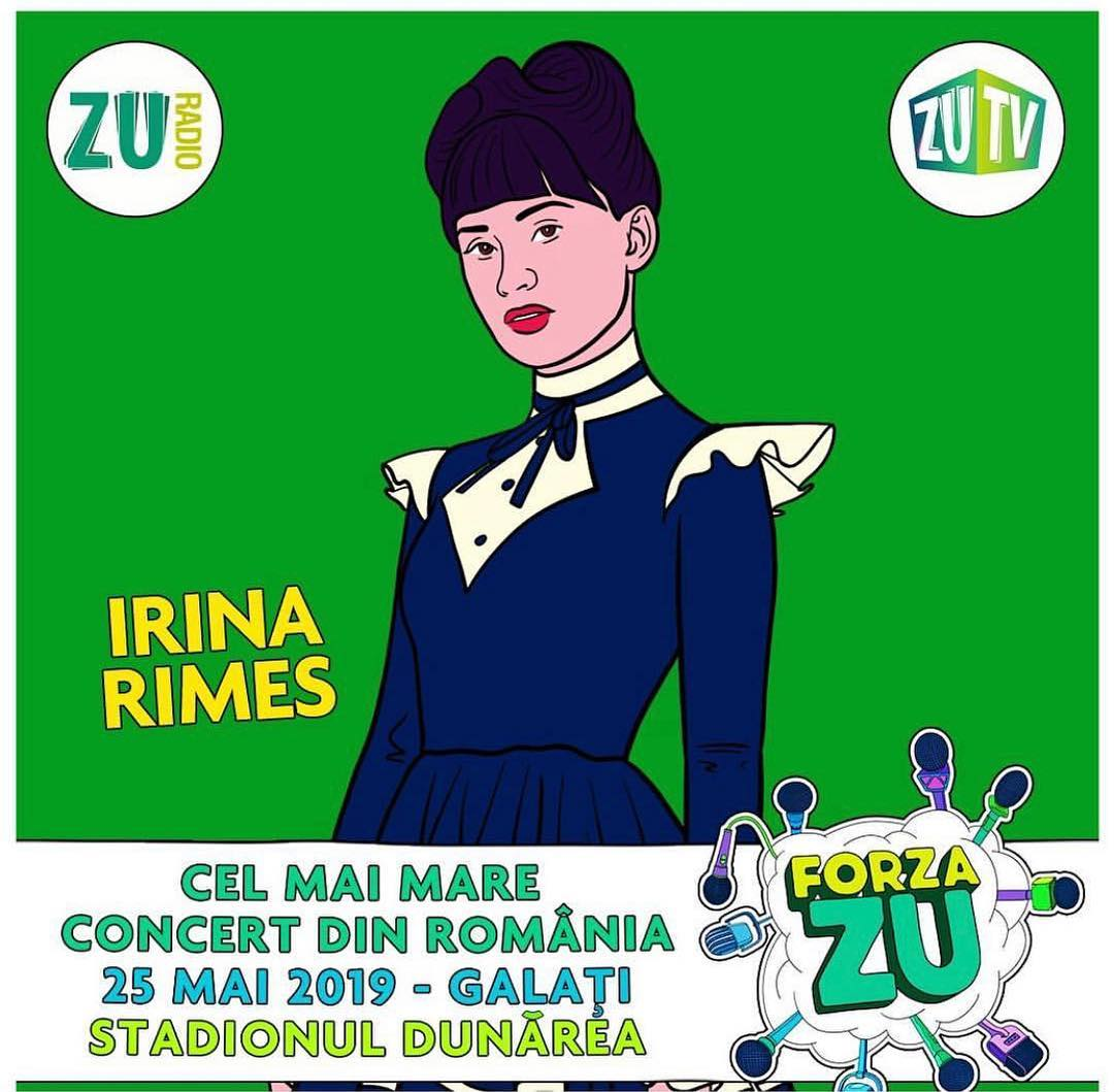 Ne vedem pe 25 mai la Galati | @irinarimes | @radiozuoficial | #ForzaZu | #ForzaZu2019  | #music | #…